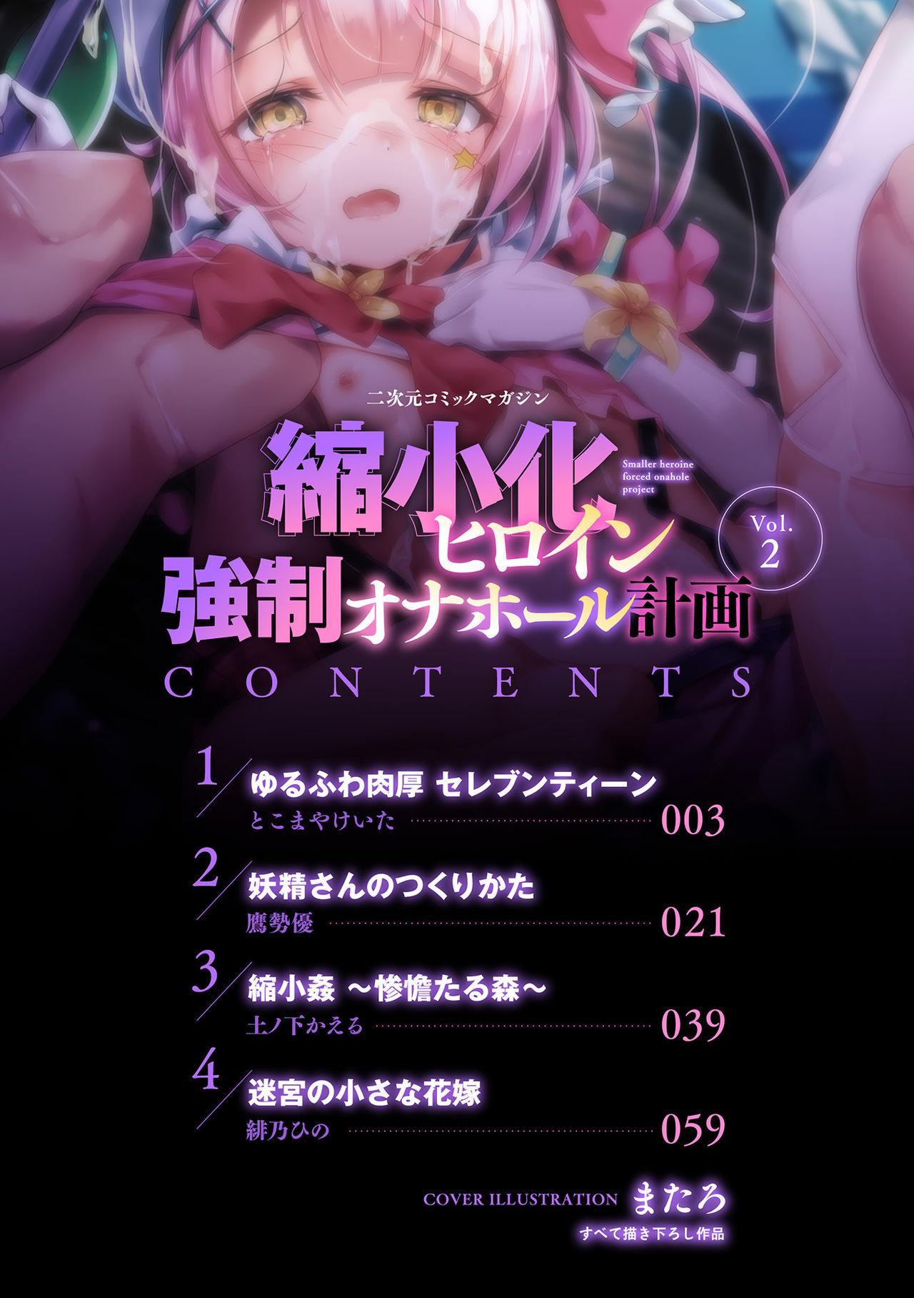 2D Comic Magazine - Syukusyouka Hiroin Kyousei Onahole Keikaku Vol. 2 1