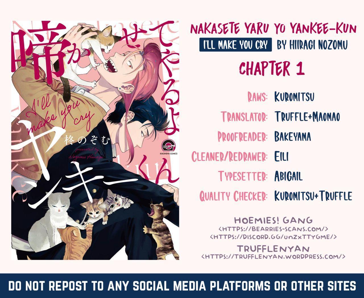 [Hiiragi Nozomu] Nakasete Yaru yo Yankee-kun   I'll Make You Cry Ch. 1-5 + Extras [English] [Digital] 2
