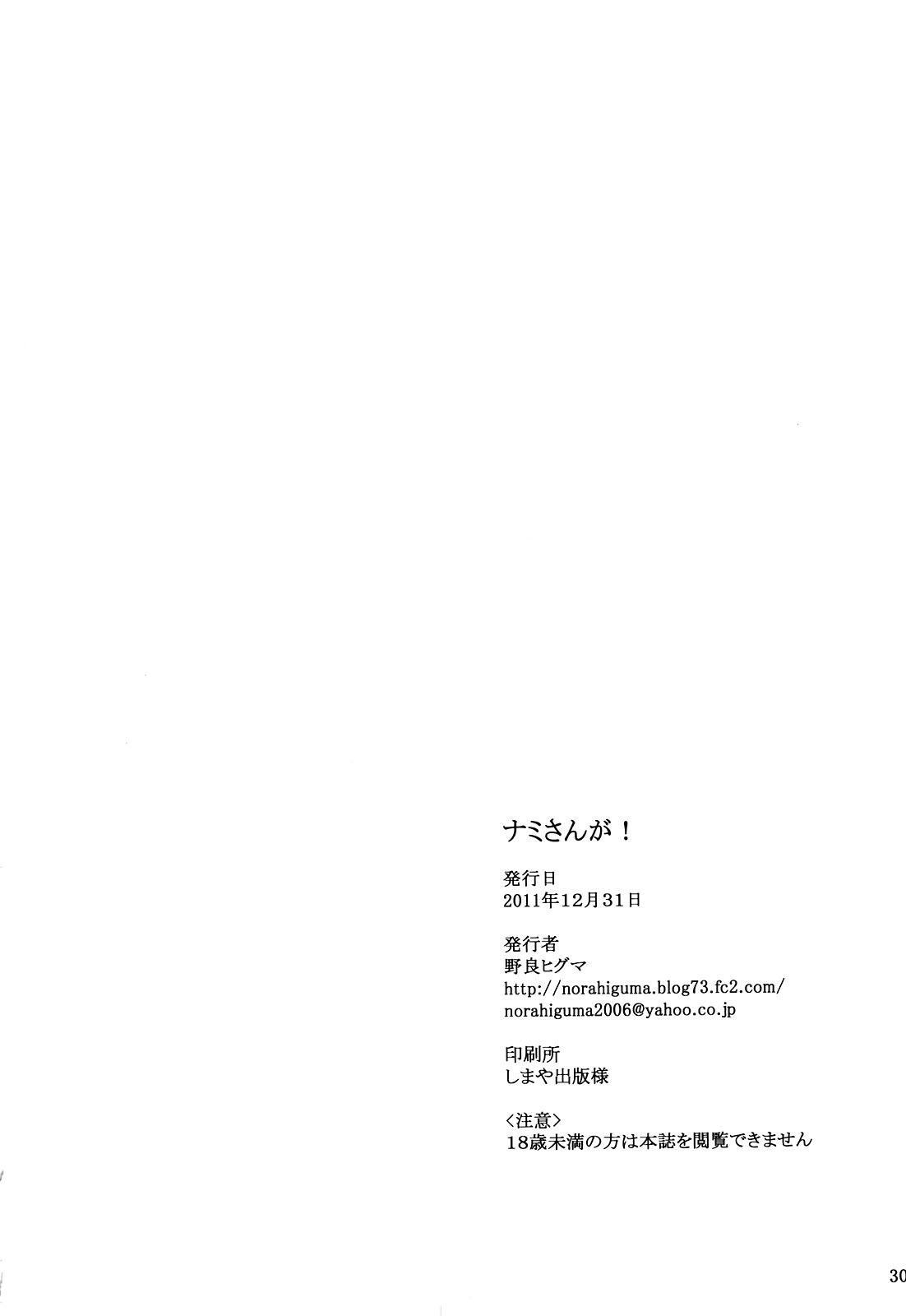(C81) [Higuma-ya (Nora Higuma)] Nami-san ga! | Nami-san is! (One Piece) [English] {doujin-moe.us} 28